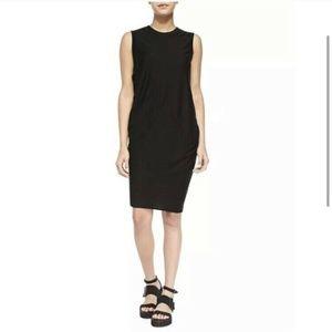 NWT Helmut Lang Sync Drape Dress Black